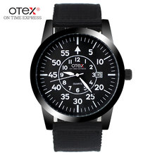 fashion canvas sports big dial watches men burst models military quartz watch Waterproof Silicone Rubber Strap