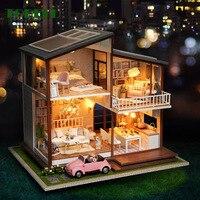 TOBEFU кукольный дом мебель деревянная вилла Diy Миниатюрный Кукольный домик аксессуары игрушки для детей подарок