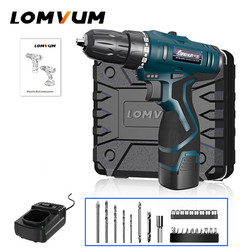LOMVUM Cordless Drills Power Tools 12/16/24V Double Speed Electric Drill Battery Set Hand Tools Electric Screwdriver Mini Drill