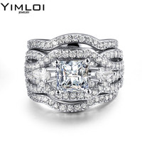 New Design Cocktail Rings Synthetic Pearl Charm Micro CZ Beautiful Ring White Gold Color Fashion Jewelry
