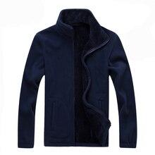 Mountainskin 6XL 8XL Mens Softshell Fleece Casual Jackets Men Warm Sweatshirt Thermal Coats Solid Thickened Brand Clothing SA041