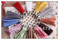 Big Size Jewely Randomly Mix Colors Suede Cord Tassels Free Shipping 100pcs About 55mm Suede Tassels