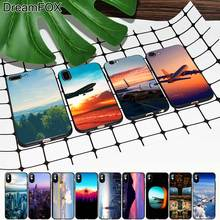 M371 Airplane And Landscape Black Soft TPU Silicone Case Cover For Apple iPhone 11 Pro XR XS Max X 8 7 6 6S Plus 5 5S 5G SE