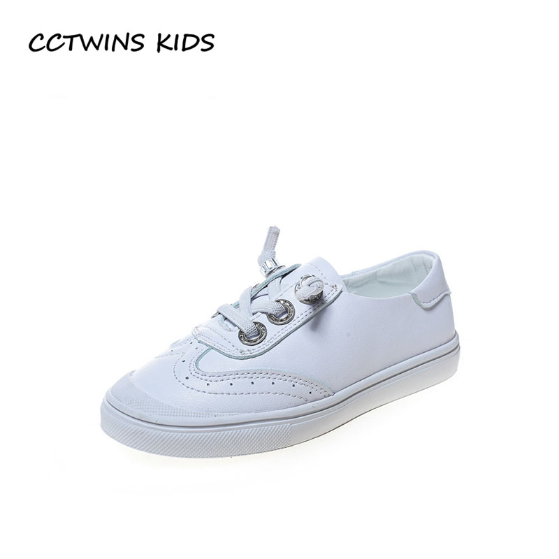CCTWINS KIDS 2018 Autumn Children Black Trainer Baby Boy Pu Leather Slip On Shoe Girl Fashion Sport Sneaker Toddler FSO2271