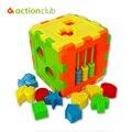 Hot Kids Shape Bloques Ilumina Caja Colorida, Kit de Construcción de plástico Modelo, matemáticas de Aprendizaje y Educación Juguetes Para Niños