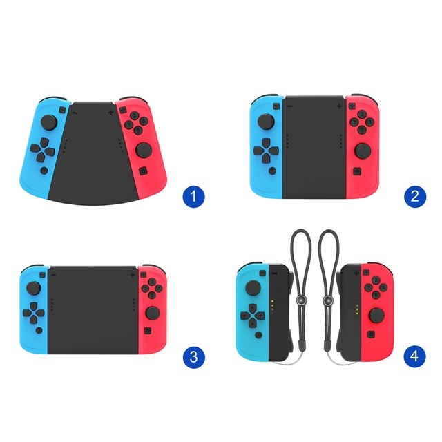 5 in 1 Connector Pack For Nintend Switch for Joy Con Gamepad Game Controller Left+Right ABS Hand Grip Case Handle Holder Cover