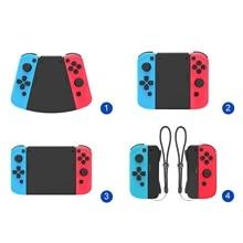 Paquet de connecteurs 5 en 1 pour interrupteur Nintend pour contrôleur de jeu Joy Con Gamepad gauche + droite poignée ABS