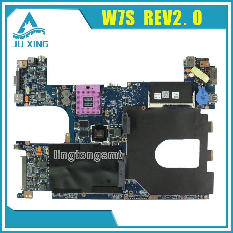 For Asus W7S Laptop motherboard GeForce 8400M G128MB VRAM USB 2.0 mainboard  fully tested v6j for asus vx1 laptop motherboard mainboard fully tested 100