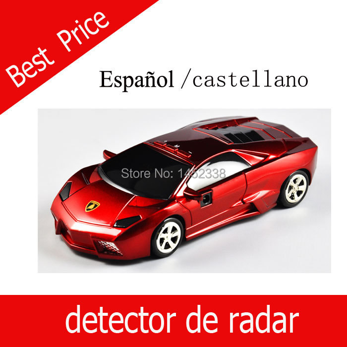 Voice Alert 360 degree Radar detector Spanish castellano Whole sale price Black and Red color available