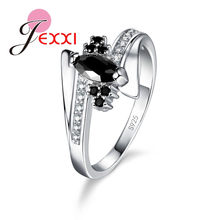New Arrival Cute Shiny Cubic Zirconia Rings For Women Big Discount 925 Sterling Silver Party Jewelry Gift Free Shipping(China)
