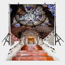 5x7ft Dome Church Backdrop Interior Ladder Photography Background and Studio Props