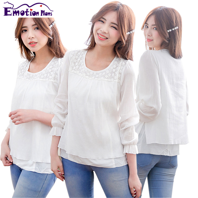 Emotion Moms Summer Spring Maternity clothes Breastfeeding tops Nursing top pregnancy clothes for Pregnant Women maternity shirt