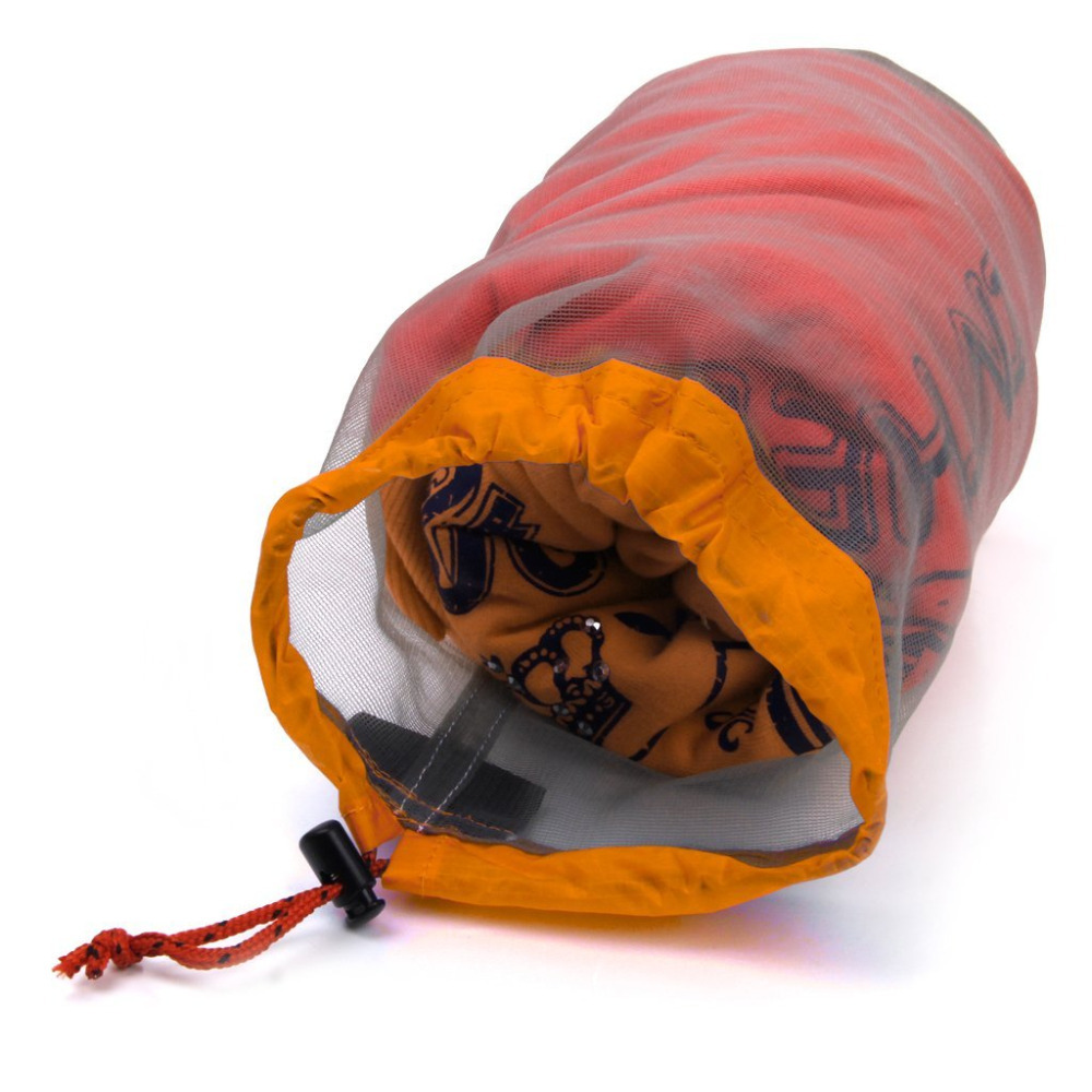 Ultra Light Mesh Stuff Sack Storage Bag for Tavel Camping Orange 41*20cm
