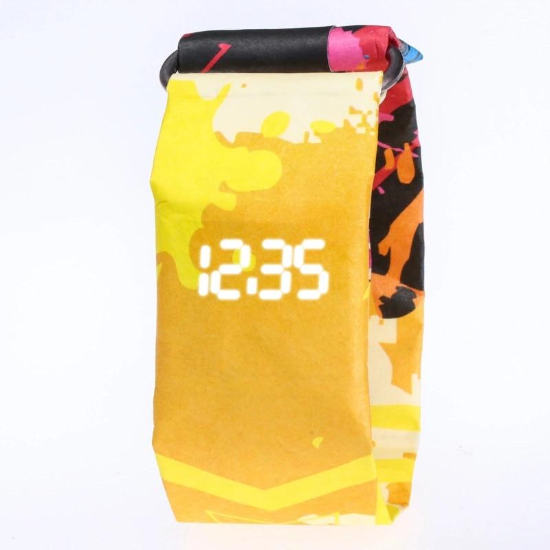 2019 Children's Kids Watch Creative Scratchproof Digital Paper Watches Waterproof Electronic Led Boy Girl Student Clock