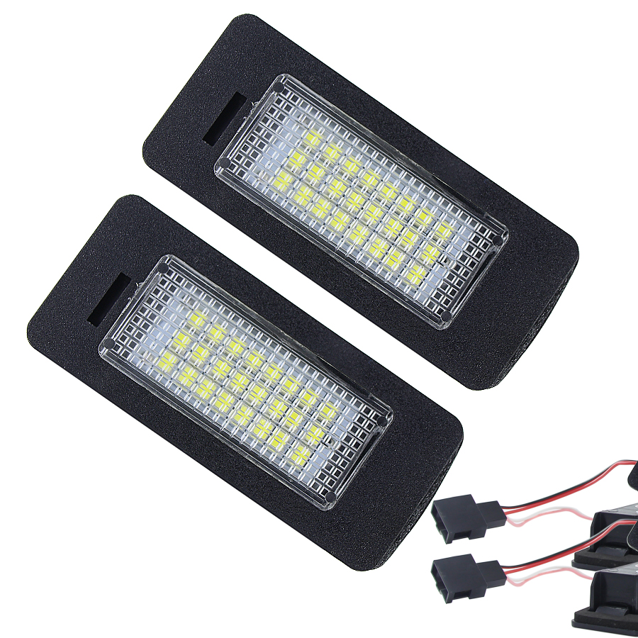 24-SMD LED Number License Plate Light Fit for SKODA Octavia 3 / Superb B6 Combi / Rapid / Yeti / Fabia (Pack of 2Pcs)24-SMD LED Number License Plate Light Fit for SKODA Octavia 3 / Superb B6 Combi / Rapid / Yeti / Fabia (Pack of 2Pcs)