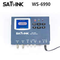 Original Satlink DVB-T WS-6990 Terrestrial Finder 1 Route DVB-T modulator/AV/HD Meter WS6990 Satlink 6990 Digital Finder Meter