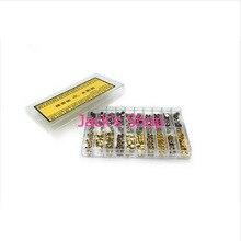 Envío gratis 300 unids impermeable del acero inoxidable del oro y plata reloj coronas para reparación de relojes