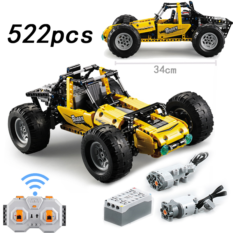 PUBG Vehicle RC Race Buggy Building Blocks Car 2.4Ghz 522Pcs Technic Bricks Hobby Toys For Children Gift Compatible with LegoingPUBG Vehicle RC Race Buggy Building Blocks Car 2.4Ghz 522Pcs Technic Bricks Hobby Toys For Children Gift Compatible with Legoing