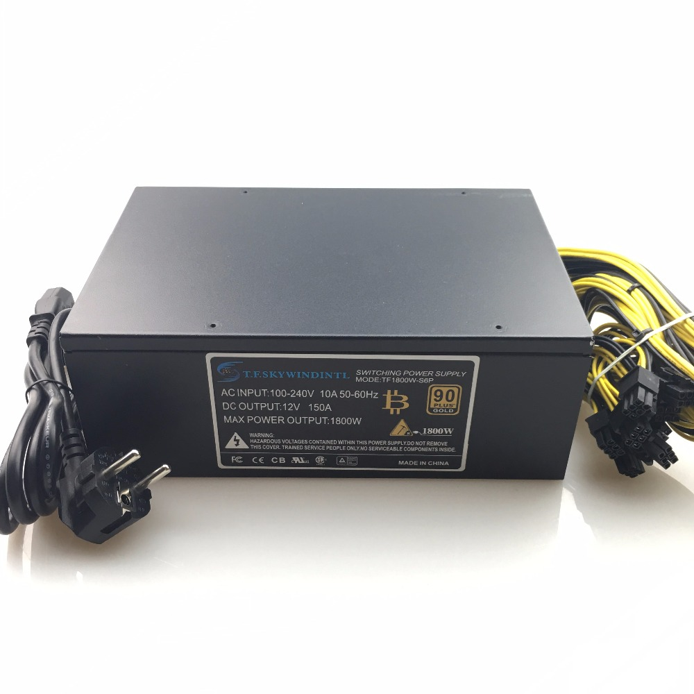 free ship 1800W psu Ant S7 A6 A7 S7 S9 L3 BTC miner machine server mining board power supply