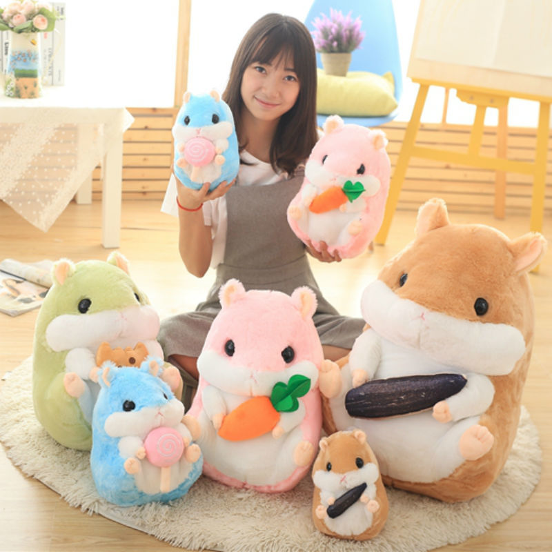 32 45 65 Cm Japanese Adorable Plump Soft Hamster Plush Toy Toys For Children in Stuffed Plush Animals from Toys Hobbies