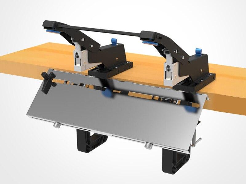 2in1 ручного двойных головок Степлер офисные седловина машина сверхмощный плоский Степлер 6.5 мм