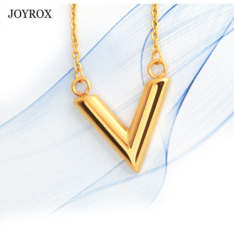 JOYROX Gold Silver Pendant Necklace Jewelry Vintage Chain