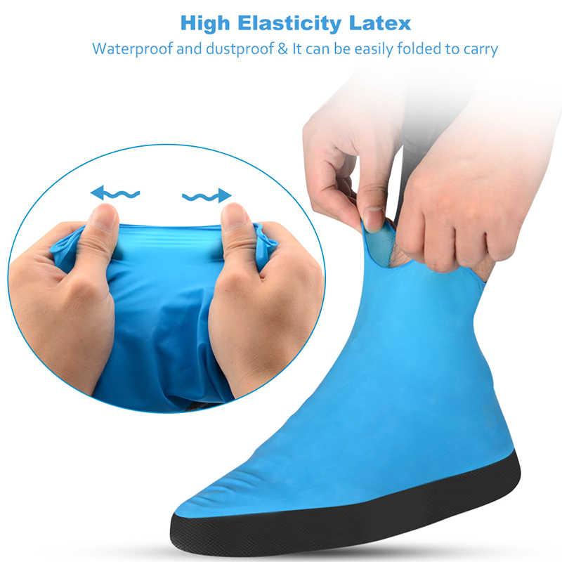 Soumit Su Geçirmez Ayakkabı Kapağı Erkek Kadın Ayakkabı Esneklik Lateks Yağmur Kapakları Kolay Taşıma Galoş Yırtılmaya Dayanıklı Önyükleme Koruyucusu