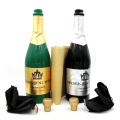 New Vanishing Champagne Bottle magic tricks LATEX((Black or Green) Wine Bottle  Stage  close up Magic Trick Props Gimmick 81125