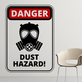 Danger Symbol Air Pollution Dust Hazard Gas Mask Warning Signs illustration Haze PM2.5 Environmental Protection Topics Removable signs