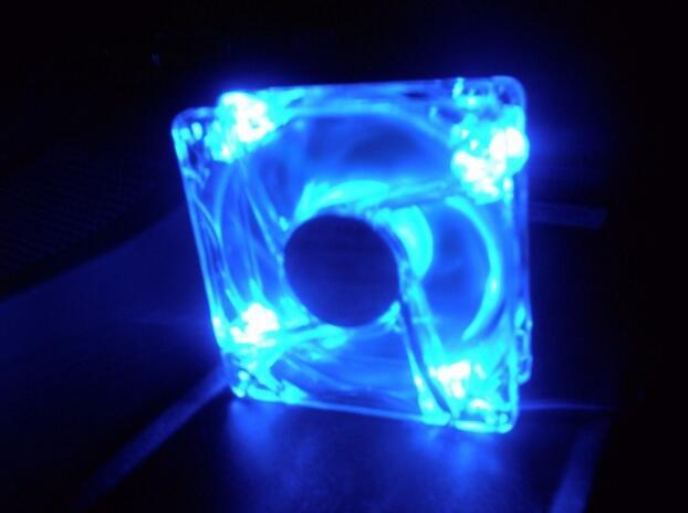 Lots 4 Blue Quad 4-LED Light Quite Clear 80mm PC Computer Case Cooling Fan Mod  Drop Shipping Lots 4 Blue Quad 4-LED Light Quite Clear 80mm PC Computer Case Cooling Fan Mod  Drop Shipping
