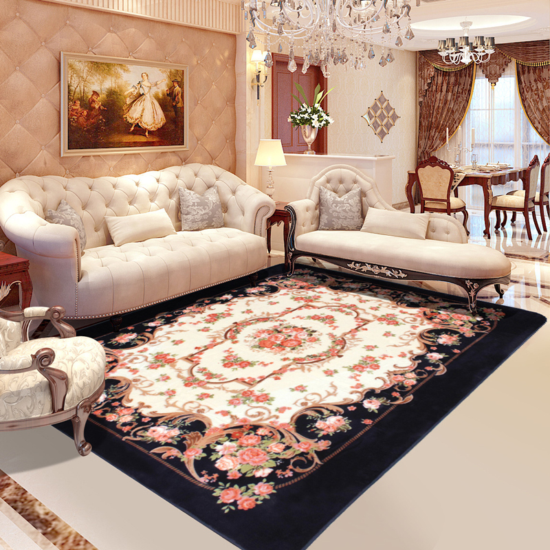 Honlaker Rose Carving Carpet Luxury Living Room Decorative Carpets Bedroom and Dining Table Large Rug MatHonlaker Rose Carving Carpet Luxury Living Room Decorative Carpets Bedroom and Dining Table Large Rug Mat