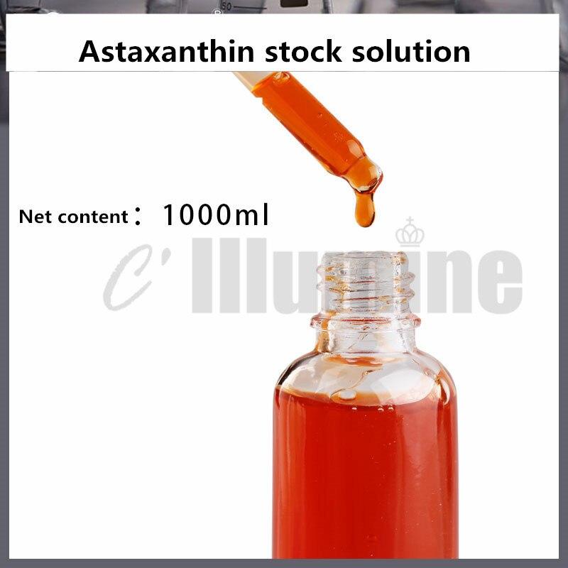 L'essence antioxydante de Solution d'astaxanthine illumine la couleur de peau améliore les produits ternes de soin de peau d'essence de visage. - 4