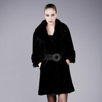 Большие размеры груди 108 см женская норки пальто, благородные элегантные качество женская Норковая Шуба Меховая куртка Верхняя одежда Бесп