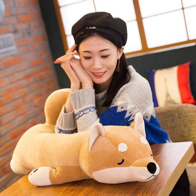 Algodón mentir felpa peluche perro juguetes grandes Shiba Inu Dog - Peluches y felpa - foto 2