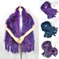 Fashion Warm Women's Scarf Real Fox Fur Shawl Cape Wrap Winter Knitted Tassel Scarf Real Fur Loop Scarf Muffler Luxury