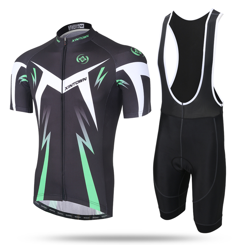 Купить с кэшбэком Mens Cycling Short Sleeve  Bib Sets Bike Wear  Men's Summer Ropa Ciclismo Breathable Bicycle Clothes Sportswear Gel Pad