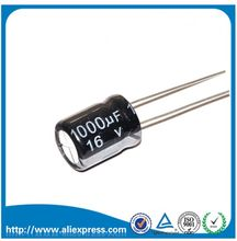 20 шт., алюминиевый электролитический конденсатор 1000 мкФ 16 в 16 в 1000 мкф, конденсаторы размером 8*16 мм 16 в/1000 мкФ