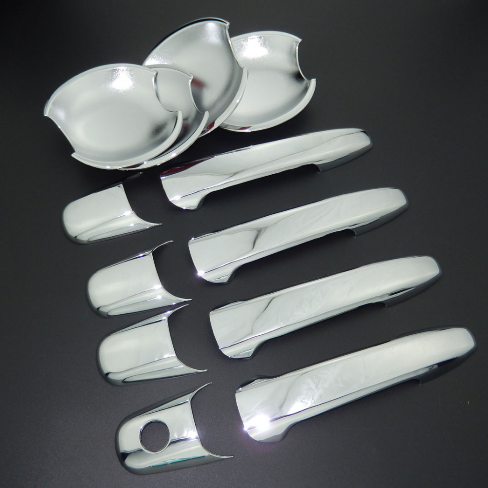 For Mazda 3 Axela <font><b>Mazda3</b></font> 2003-2008 ABS Chrome Door Handle Cover & Door Bowl Cover Car Styling Decorate 2004 2005 2006 <font><b>2007</b></font> image