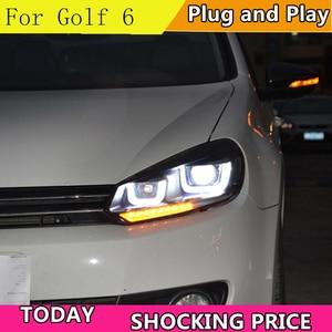 Image 3 - Car Styling for VW Golf 6 Headlight 2009 2012 Dynamic Signal Golf6 LED DRL Hid Head Lamp Angel Eye Bi Xenon Beam Accessories