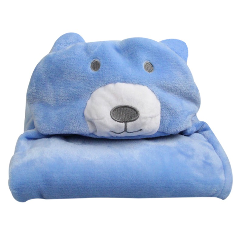 Cute Soft Baby Blanket Baby Towels Animal Shape Hooded Towel Lovely Bath Towel Hooded Bathrobe Receiving Childrens Blanket