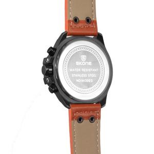 Image 4 - SKONEนาฬิกาผู้ชายหนังกันน้ำอัตโนมัติวันที่นาฬิกาข้อมือควอตซ์กีฬานาฬิกาชายChronographนาฬิกาRelogio Masculino
