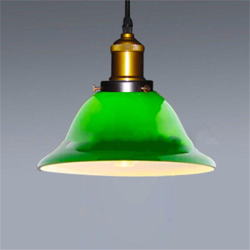 American country style vintage emerald green glass pendant light american country style vintage emerald green glass pendant lightloft style pendant lights for bar cafe hanging lamp lamparas in pendant lights from lights aloadofball Image collections
