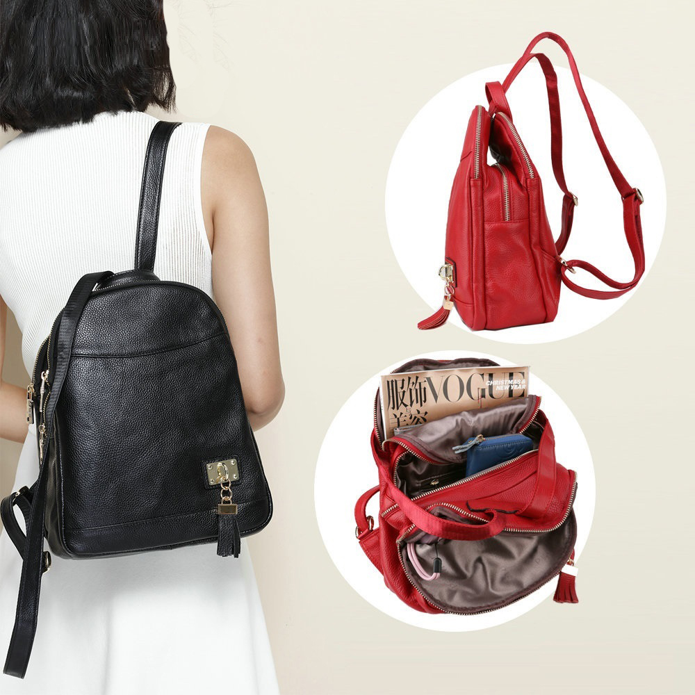 961e0f2657ed Mara's Dream 2019 женская сумка-мессенджер из искусственной кожи, клетчатая  женская сумка через плечо. NIGEDU Genuine leather Women Backpack ...