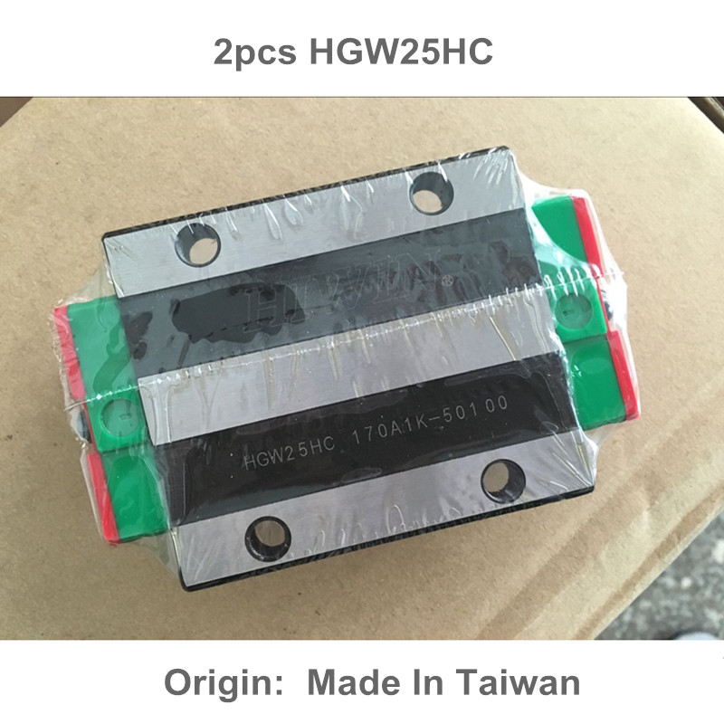 2pcs HGW25HC 100% New Original HIWIN brand linear guide block for HIWIN linear rail hgr25 cnc parts original new hiwin linear guide block carriages hg25 hgw25cch hgw25cc hgr25 for cnc parts