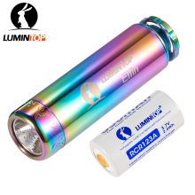 LUMINTOP Mini Flashlight Elfin+ Battery With Tritium Tube Cree XP-L V5 LED Stainless Steel Body Decorated With Gold-Plating