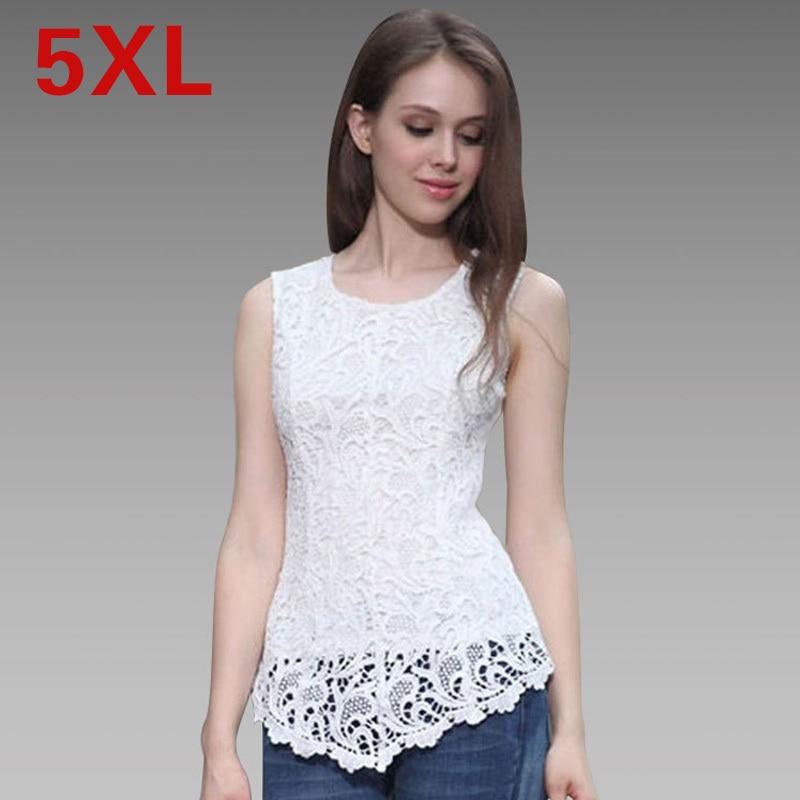 2015 Chiffon Lace Blouse Plus Size Women Clothing 5XL Black Sleeveless Top  Blouse Yellow Crochet Vest - Popular Yellow Lace Top-Buy Cheap Yellow Lace Top Lots From China