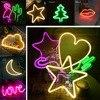 2018 Hot Neon Star Cloud Moon Cactus Lips Flamingo Tree LED Bulb Battery Table Lamp Wall