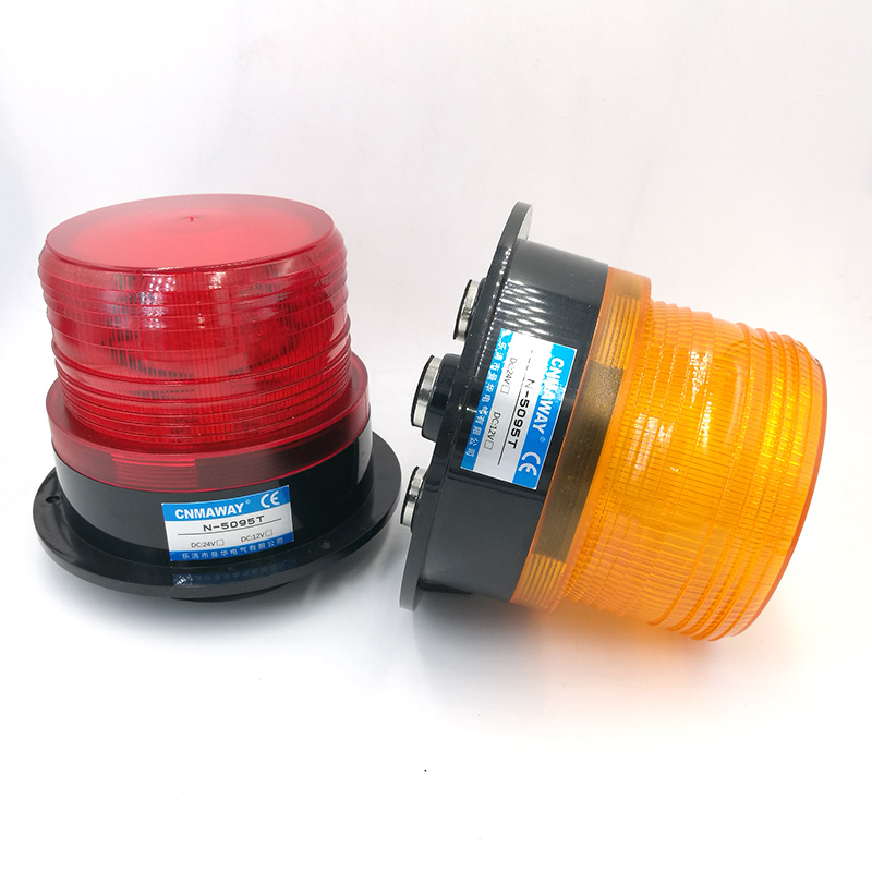 N-5095T/TJ  Indicator Light Rolling With Cigar Lighter Signal Warning Light LED Flash Beacon Strobe Emergency Lamp 12V 24V 220V