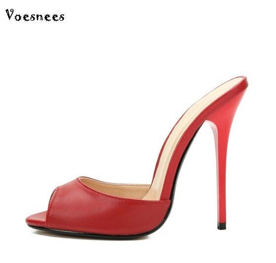 2018 נשים כפכפים פופולרי אופנה קיץ נשים פרדות מזדמנים נקבה נעלי משאבות טו פיפ נעל עקב גבוהה עקבים נעלי בית