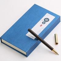 Business Solid Wood Signature Pen Brass Metal Ballpoint Pen High Grade Custom Brass Roller Ball Pen